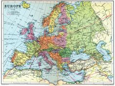 Mapsontheweb Detailed Map Of Europe In 1936
