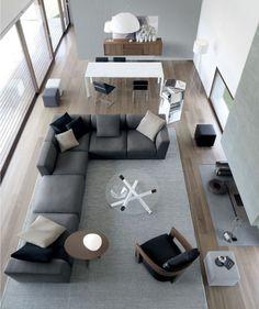 home interior room design design ideas home design decorating decorating before and after Home Living Room, Apartment Living, Living Area, Living Room Designs, Living Room Decor, Dining Room, Corner Sofa Living Room Layout, Sofa Layout, Apartment Goals