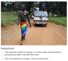 Very first LGBTQ pride parade in Uganda Nate King Cole, Lgbt Memes, Faith In Humanity Restored, Makeup Quotes, Social Issues, Gay Pride, Human Rights, Lgbt Rights, Steven Universe