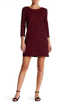 Maritime Striped Shift Dress