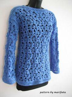 Easy Crochet Sweater Pattern Skill Level: Easy. Size: S-M; L-XL; XXL-XXXL