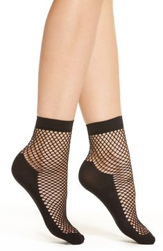 3774aca83c4 Capelli New York Fishnet Ankle Socks
