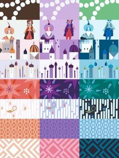 Not actually a quilt, but I love the 1001 Peeps line of fabric and would love to make a quilt from it someday.  It's all Arabian Nights themed!