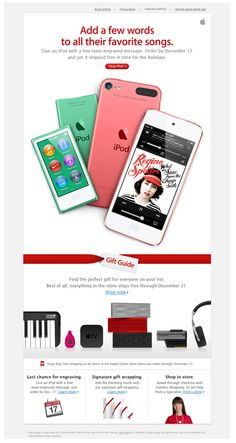 Nice email copy from Apple - email design inspiration