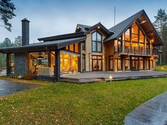 Trendy Exterior Rustic Homes Architecture Dream Home Design, Home Design Plans, Modern House Design, Craftsman Cottage, Craftsman House Plans, Luxury Homes Dream Houses, Dream House Exterior, Big Houses Exterior, Style At Home