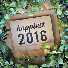 What are some things that make you happy? Begin the new year with a smile thanks to #Etsy shop @bubbyandbean. See other cards and calendars for a wonderful 2016 at link in bio. by etsy