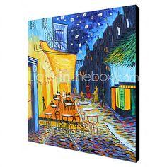 Pintada a mano Famoso / PaisajeClásico / Tradicional Un Panel Lienzos Pintura al óleo pintada a colgar For Decoración hogareña 2017 - $48.43