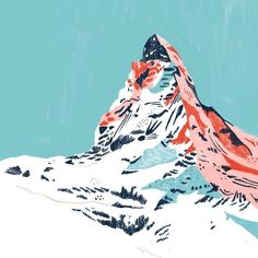 a mountain drawing I will probably never finish #illustration -  - #drawing #Finish #Illustration #Mountain Art And Illustration, Mountain Illustration, Mountain Drawing, Mountain Art, Mountain Landscape, Cartoon Drawings, Art Drawings, Posca Art, Mountain Paintings