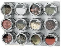Retro Stacking Cake Tins, I have a small and I love it for spices, but would be great for brads and eyelets, for scrapbooking