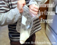 No electric ice cream maker? No problem! You can still have fresh homemade ice cream by making your own Homemade Ice Cream Freezer! http://www.littlehouseliving.com/homemade-ice-cream-freezer.html #diy #makeyourown #icecream