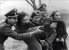 Members of Hitler's bunker Julian Glover Doris Kunstmann Amy Lynn Simon Ward and Sheila Gish out having target practice in a scene from the film 'Hitler: The Last Ten Days', Get premium, high resolution news photos at Getty Images German Women, German Girls, German Soldiers Ww2, German Army, Julian Glover, Germany Ww2, Luftwaffe, Military History, World War Two