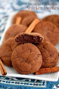These Mexican Chocolate Snickerdoodles pack a powerful flavor punch! Cinnamon and cayenne combine for an explosion of flavor that's hard to resist.