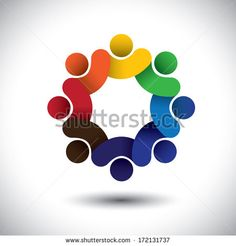 personas sentadas en circulo | Stock Images similar to ID 168266963 - happy businessman raising hands ...