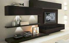 25 Best Modern TV Unit Design for Living Room - Decor Units Living Room Tv, Living Room Modern, Home And Living, Living Room Designs, Modern Tv Unit Designs, Modern Tv Units, Tv Wanddekor, Home Furniture, Furniture Design