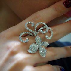 """Rococco Orchid"" Diamond Ring - Plukka - Shop Fine Jewelry Online"
