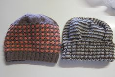 Hats knitted for Nikki & Rob of the coffee shop.