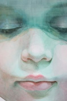 """Gorgeous watercolor paintings by American artist Ali Cavanaugh. """"Immerse is an abandonment of the artist's hyper-representational aesthetic and, rather, embraces the fluidity and ungoverned nature of watercolor. Portraits Illustrés, L'art Du Portrait, Fashion Portraits, Watercolor Portraits, Watercolor And Ink, Watercolor Paintings, Watercolors, Watercolor Trees, Watercolor Artists"""