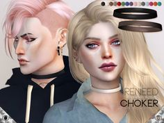 The Sims Resource: Reneed Choker by Pralinesims • Sims 4 Downloads
