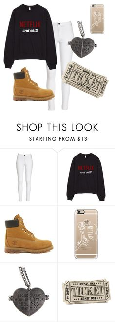 """""""Netflix Plans"""" by deisyvegaa ❤ liked on Polyvore featuring Timberland, Casetify, women's clothing, women, female, woman, misses, juniors, tumblr and timberlands"""