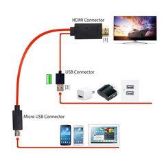 1.8 메터 핀/11pin mhl micro usb 위해 hdmi 컨버터 1080 마력 hd tv 케이블 어댑터 galaxy note 3 안드로이드 스마트 폰 mhl