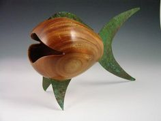 Woodturned fish--would love to make something like this!!!!