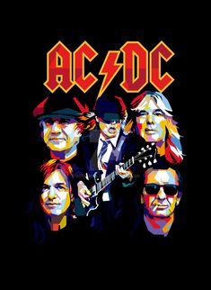 AC/DC Back In Black by bennadn.deviantar… on AC/DC Back In Black by bennadn. Rock And Roll, Pop Rock, Hard Rock, Ac Dc Band, Rock Band Posters, Band Wallpapers, Pochette Album, Pop Art Portraits, Back To Black