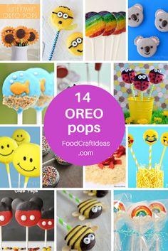 roundup of 14 OREO pops you can make