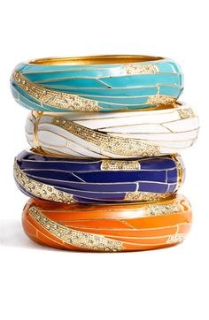 Insect Wing Enamel Bangle