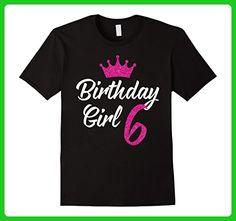 Mens Birthday Girl 6 Years Old T-Shirt Small Black - Birthday shirts (*Amazon Partner-Link)