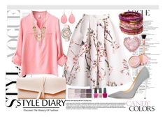 """""""Sweet Lady 2"""" by natzumys ❤ liked on Polyvore featuring Rosena Sammi Jewelry, Lydell NYC, Jimmy Choo, Ted Baker, Kate Spade, jane, OPI, women's clothing, women and female"""