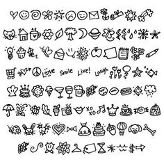Kunst Zeichnungen - Cute doodles, I use them all the time for the letters I write for my boyfriend :. Doodle Fonts, Doodle Lettering, Doodle Drawings, Doodle Art, Doodle Inspiration, Doodle Ideas, Sketch Notes, Cute Doodles, Doodles Zentangles