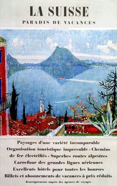 Travel Poster - Tessin - Switzerland - by Carigiet Alois.