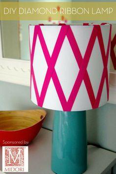 Midori Ribbon #DIY Diamond Ribbon Lamp