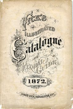 Seed catalogue cover art, 1872