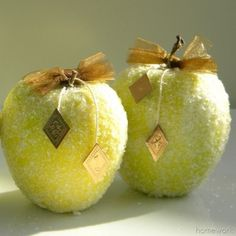 homework: Au Naturale: frosty apples The secret is Epsom salts!