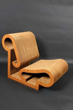"""Rare Set Of 4 """"Contour"""" Lounge Chairs By Frank Gehry   From a unique collection of antique and modern lounge chairs at https://www.1stdibs.com/furniture/seating/lounge-chairs/"""