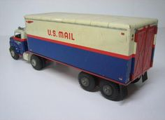 About this site Tin Toys, Toy Trucks, Metal Tins, Vintage Toys, Toy Chest, How To Memorize Things, Old Things, Cool Stuff, 1950s