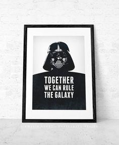 Star Wars print. Darth Vader print. By CaffeLatteDesign,