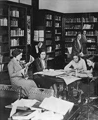 Sala de lectura del Lyceum Club Femenino