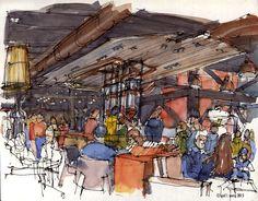 Urban Sketchers: Urban Sketchers at Starbucks Reserve Roastery and Tasting Room
