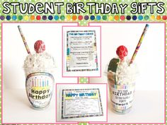 Looking to make student birthdays easy, but still special?  This freebie includes the following:* Happy Birthday Labels for Cups* Happy Birthday No Homework Coupon* Happy Birthday Certificate for Classmates to Sign* Happy Birthday Chant for the Class to SingAlso includes tips and links for creating birthday cups ahead of time so that you're prepped for the entire year!*******************************************************************Connect with me to see my products in action:Teaching…