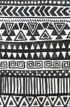 aztec-y black and white. would look cool with a great mat on a brightly colored wall (bathroom?)
