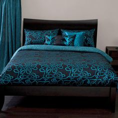teal and pink bedroom   Michael Payne Twisty Vine Turquoise Bedding By Michael Payne Bedding ...