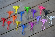 Paracord Weave Dragonfly Keychain, Backpack Decoration, Zipper Pull, Butterfly Decal, Survival Rope, Key Fob - CHOOSE YOUR COLOUR by ParacordRevolution1 on Etsy