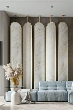 Hotel Room Design, Restaurant Interior Design, Modern Interior Design, Wall Partition Design, Divider Design, Dining Room Mirror Wall, Master Bedroom Design, Interior Exterior, Interiores Design