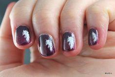 Nails for a friend. China Glaze - Charmed, I'm Sure / China Glaze - Ahoy! / Konad - White / Konad - m77.
