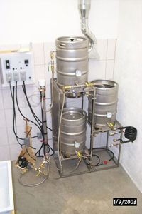 The pump speed is controlled via a commercial ceiling fan motor speed controller. Beer Brewing Process, Home Brewing Beer, Distillery, Brewery, Commercial Ceiling Fans, Bottle Washer, Ceiling Fan Motor, Pvc Pipe Fittings, Home Brewing Equipment
