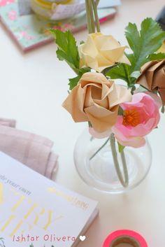 Rosas Origami (en caso de que mis plantas no florezcan...) #origam