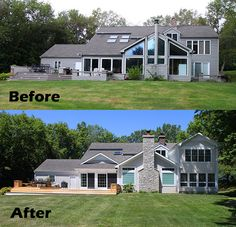 Before and after - remodel