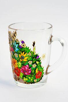 Hedgehog Mug, Hedgie, Woodland Animal, Floral Mug, Personalized Gift